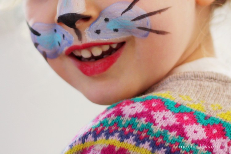 kid cat face painting