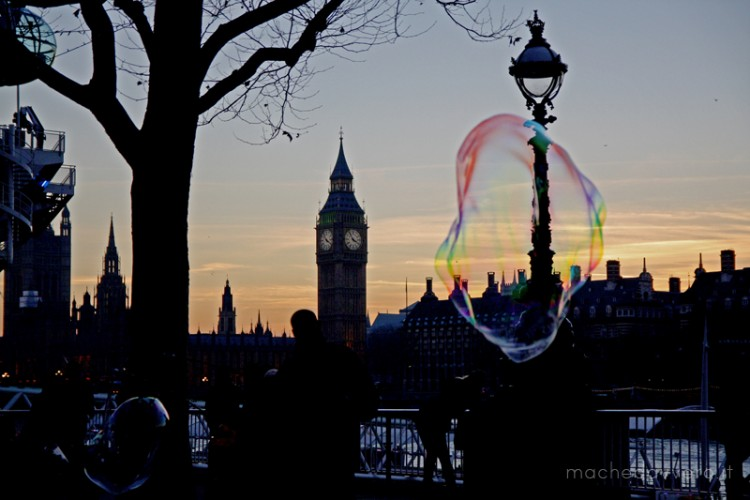 London Southbank bubble