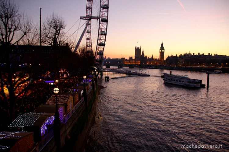 southbank london sunset