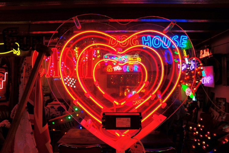 Gods Own Junkyard London neon signs
